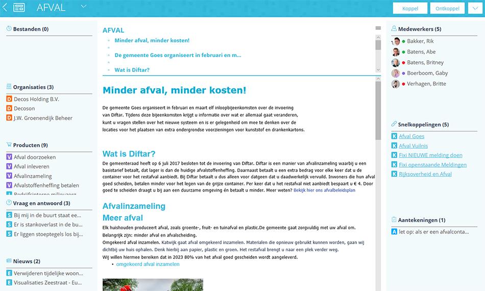 Screen themapagina